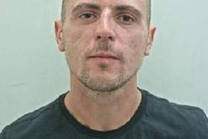 Peter Hull, 30, from Leyland, is wanted in connection with a hit and run in Corporation Street, Preston on February 25.
