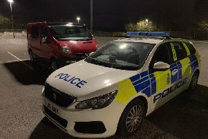 Police seize uninsured van in Clowne