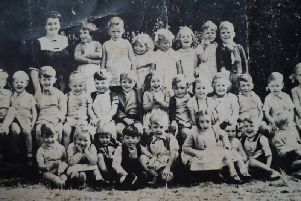 St Mary's Junior School in  the 1950s. Michael Sheridan is middle row, fifth from left