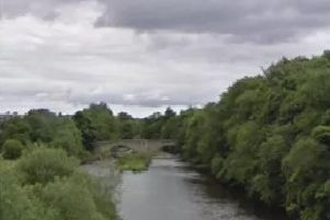 The River Wear near Witton-le-Wear. Copyright Google Maps.