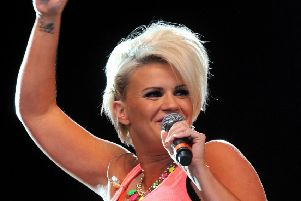 Former Atomic Kitten pop star Kerry Katona.