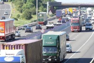 There was a fatal crash on the M1 near Barlborough on Friday.