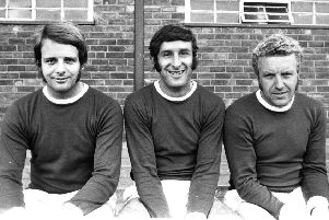 Kevin Randall, centre, during his time at Chesterfield FC.