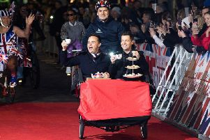 Ant McPartlin and Declan Donnelly arrive at the Britains Got Talent 2019 auditions