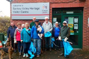 Litter pick events at Sankey Valley Country Park have proved successful in the past, with volunteers even bringing their four legged friends along.