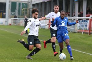 Kyel Reid started in a much-changed line-up for Town
