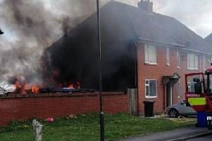 Submitted picture of the house blaze on Tuesday.