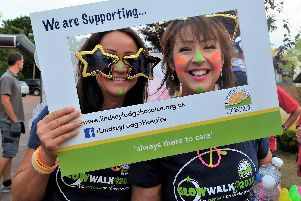 Participants in last years Lindsey Lodge Hospice Glow Walk