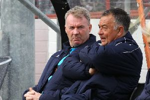 Boss John Sheridan was 'gutted' for the travelling fans today
