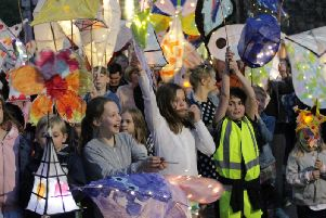 The festival's  lantern parade will be on Saturday at 9pm, followed by a fire show at Dronfield Hall Barn.