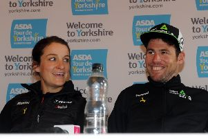 On centre stage:  Lizzie Deignan and  Mark Cavendish. Picture: Tony Johnson