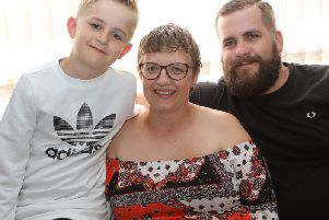 Kayleigh Snell with partner Thomas Layton and son Oliver.