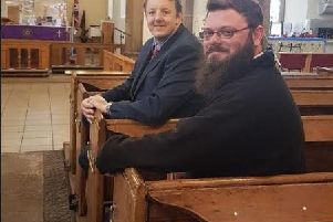 Chesterfield MP Toby Perkins with Reverend Cooke.