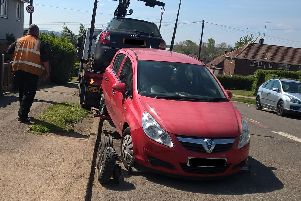 A number of vehicles have been seized as part of the clamp down on crime