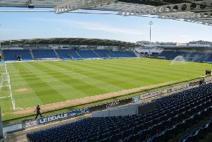 Chesterfield vs Crewe - ProAct stadium - Pic By James Williamson