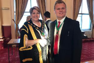 New council chairman, Coun Deborah Merryweather, and vice-chairman, Coun Jack Bowker