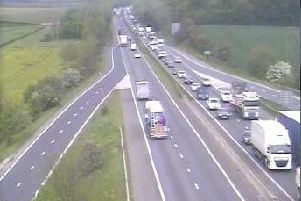 Emergency services are dealing with a multi-vehicle collision on the A1M in South Yorkshire