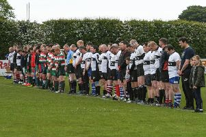 A minutes silence at the start of a memorial rugby match for Martin Boatman, of Washington, who played for West Hartlepool RFC before he died of cancer aged 35 in January, was held at Brinkburn, on Saturday, between a West Vets side against a select Rest of Hartlepool Vets team.