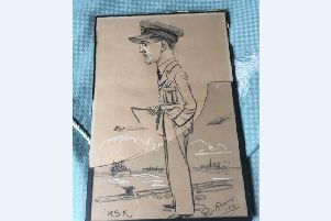 The hand drawn picture of Herbert Sidney Keeton.