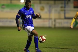 Matlock Town's Craig Westcarr during the game between Matlock Town FC & Basford United FC @ The Proctor Cars Stadium- 02-04-19 -  Image by Jez Tighe