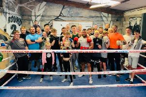 Ready to put on a sparkling show, enthusiastic members of the Spire Boxing Academy.