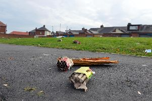 File picture: Aftermath from bonfire night on Cato Street, Southwick, in 2018.