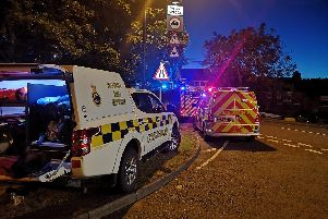 Emergency services at the scene last night. Picture: Sunderland Coastguard Rescue Team