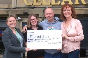 The Cellar Bar in Batley has managed to raise �5,000 for Macmillan Cancer Support this year.