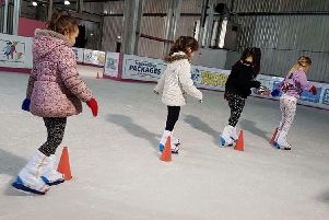 Youngsters can book now for ice skating lessons at the new Leeds ice rink on Elland Road