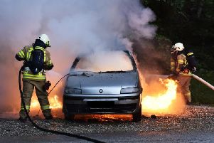 Firefighters were called to a vehicle blaze in Killamarsh last night. Stock image.