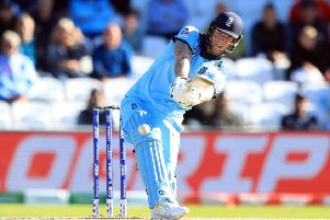 England's Ben Stokes during the ICC Cricket World Cup group stage match at Headingley, Leeds. . Photo credit should read: Simon Cooper/PA Wire.