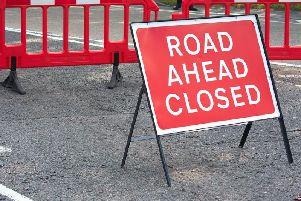 Some roads near Chesterfield Town Hall will be closed this morning.