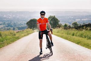 Chesterfield cyclist Adrian Beckett, who survived meningitis, now has his sights set on getting to the top of Mount Everest  on a bike!