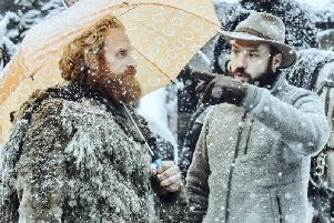 Fabian Wagner (right) with actor Kristofer Hivju, who played Tormund Giantsbane in Game of Thrones.