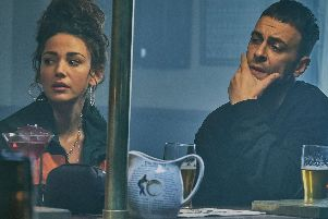 Michelle Keegan and Joe Gilgun in Sky's 'edgy' new comedy Brassic.