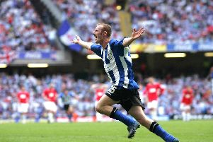 Drew Talbot scored in the League One play-off final for Sheffield Wednesday