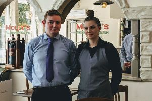 Tom Laycock (Manager) and Brittany Carr (Assistant Manager).