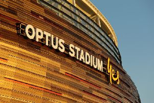 Leeds United take on Manchester United at the Optus stadium in Perth. (Getty)