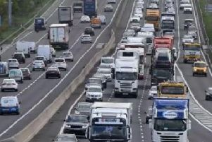 The M1 motorway.