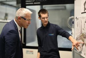Brexit Secretary Stephen Barclay visits Yorkshire firm Produmax