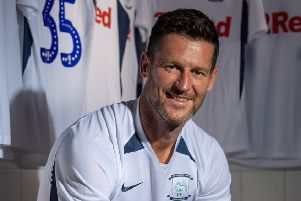 David Nugent in the Deepdale dressing room after signing for Preston (photo: PNE)