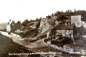 The postcard show's Shirebrooks Old School House and Rock Cottages