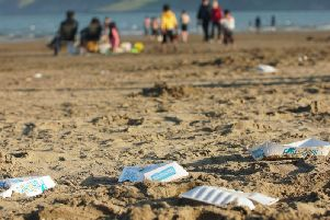 Litter on Scarborough's South Bay beach.