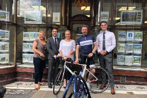 Pedalling for mental health: Julia Green, Macaulay Thompson, Harriet Eley, Peter Leadbeater and Jack Manchester.