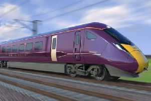 The new Hitachi bi-mode trains will serve Chesterfield.
