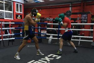 Sparring action