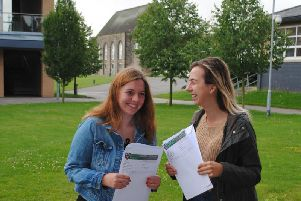 Netherthorpe Sixth Form students celebrate their A Level results.