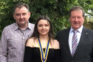 Family affair: New president Olivia Jorden with dad Mark Jorden and grandfather David Asquith.