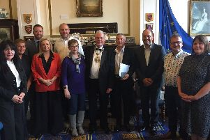The Purple Flag inspectors with Mayor of Preston Coun David Borrow and others