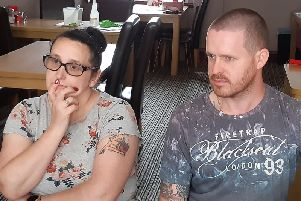 Wendy Twiss, 44, and Kevin Twiss, 35, who found the injured tot in Albert Road, Blackpool, shortly before 9am on Tuesday, August 20, 2019